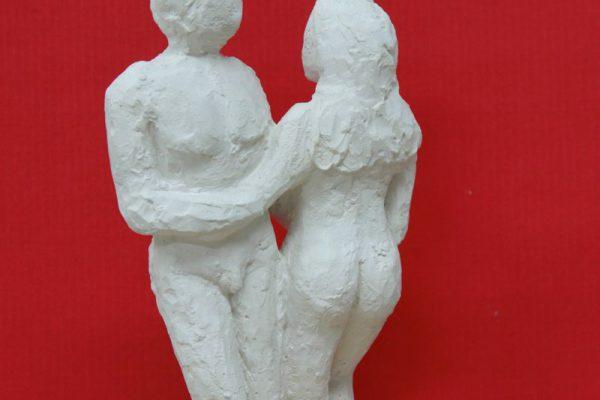 Der Tanz, Gipsfigur und Blattgold made by Goldcreartiv