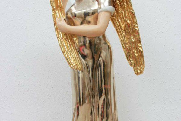 Engelsfigur Mondgold, 23,5 Karat Blattgold, gefasst - Goldcreartiv