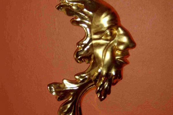 Goldmaske barock, Polimentvergoldung