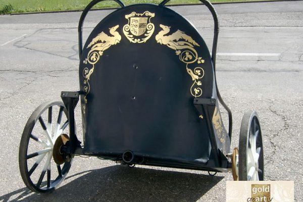 vergoldeter Römerwagen