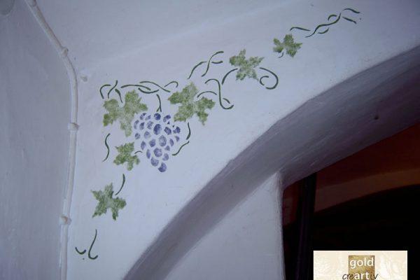 Schablonenmalerei Gasthaus