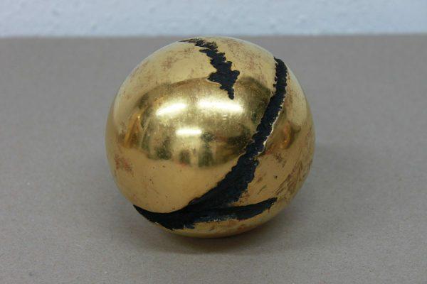 Holzkugel vergoldet - Goldcreartiv