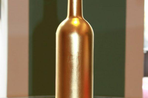 vergoldete Flasche - Goldcreartiv