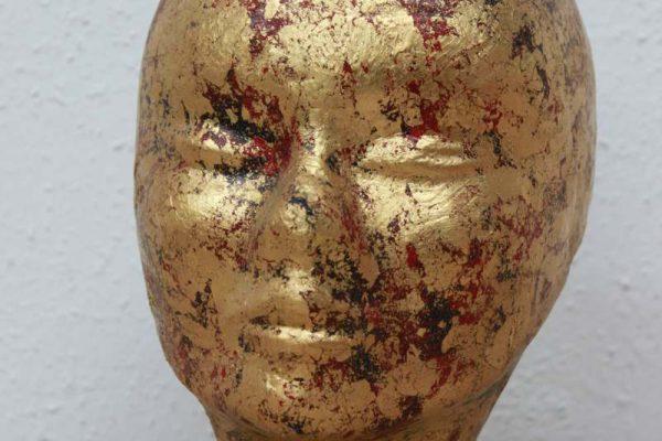 vergoldeter Kopf - Goldcreartiv