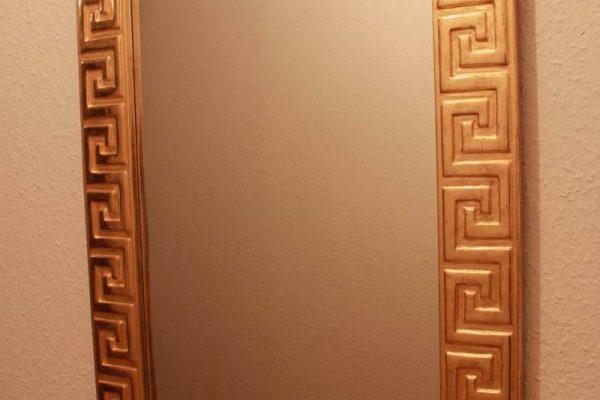 vergoldeter Spiegelrahmen Mäander - Goldcreartiv
