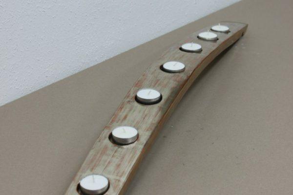 candlestick in silver- barrel - Goldcreartiv